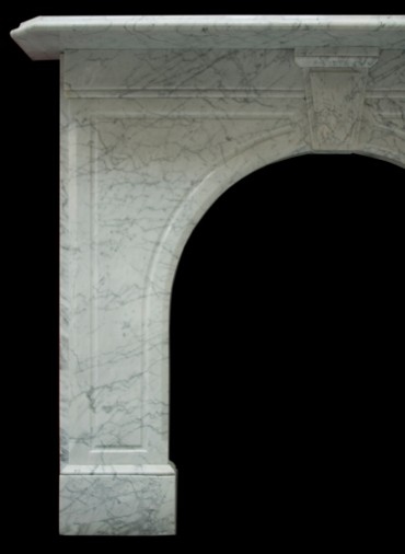 Victorian arched white carrara marble fire surround for White marble fire surround