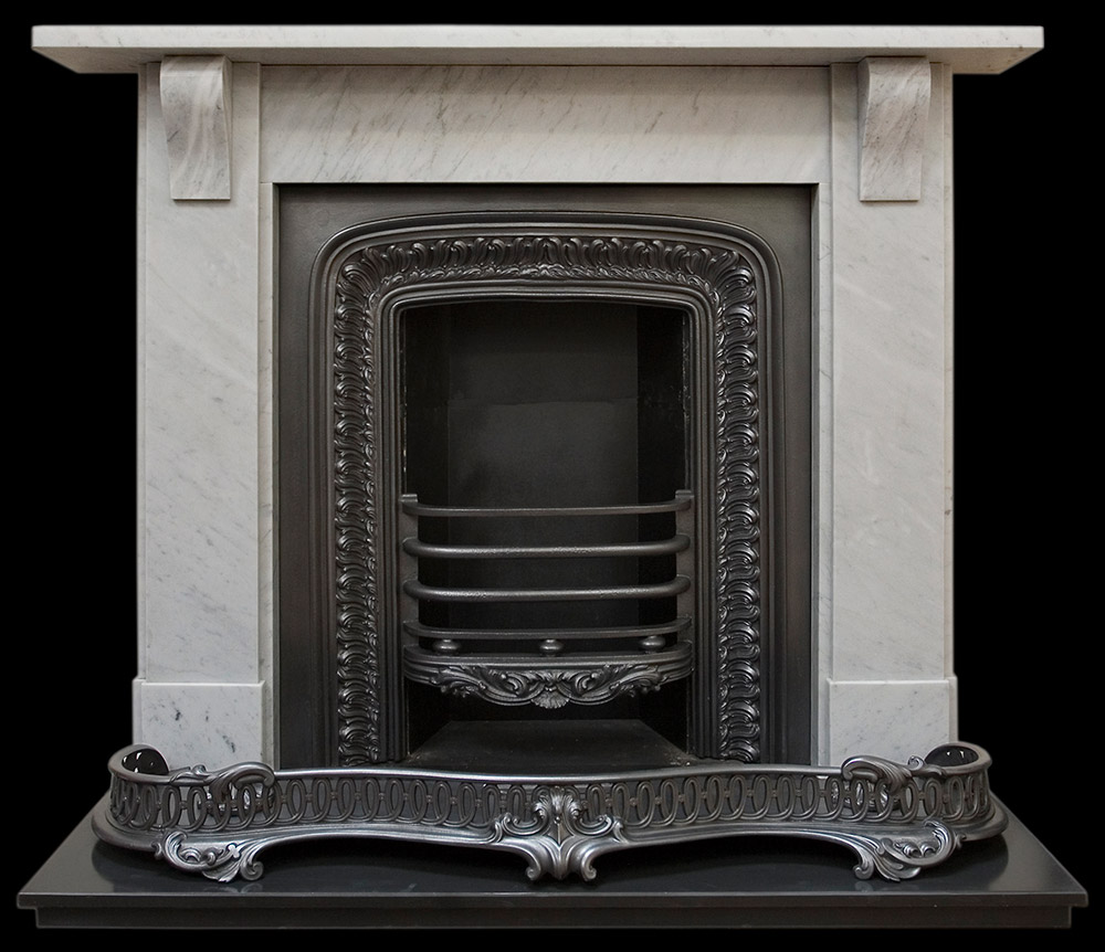 Small Antique Marble Fire Surround