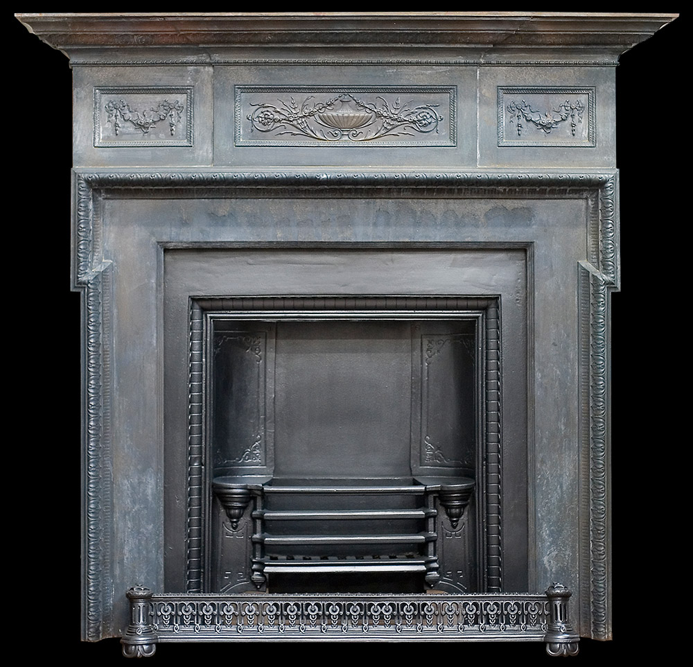 Coalbrookdale cast iron fire surround