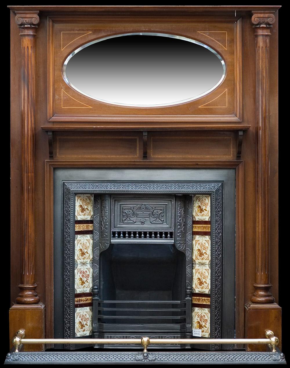 Edwardian mahogany fireplace