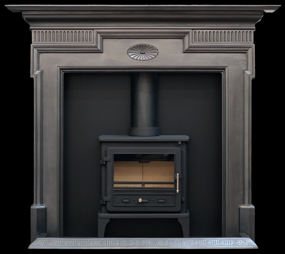 Cast iron stove surround gallery stoves for Stove surrounds photos