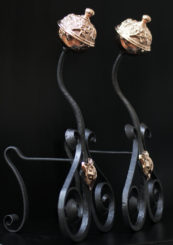 Wrought Iron Fire Tool Rests